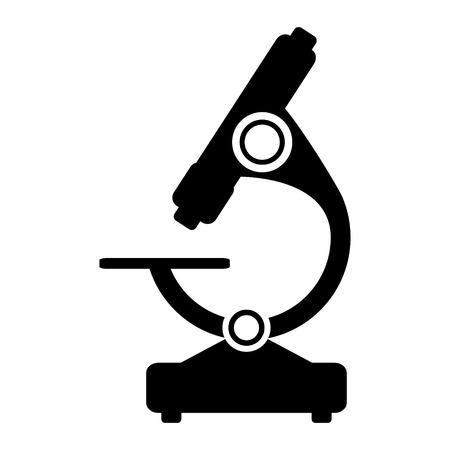 Microscope icon on white background. Vector illustration.