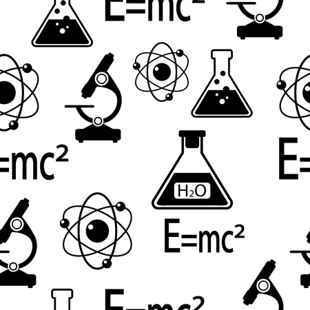Science seamless pattern. Vector illustration. Vector