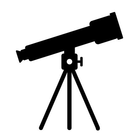 refracting: Telescope icon on white background. Vector illustration.