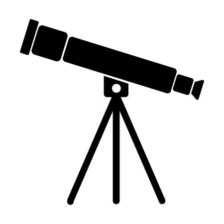 refracting: Telescope icon on white background. Vector illustration.