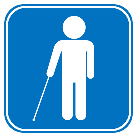 Blind disabled sign on white background. Vector illustration. Vector