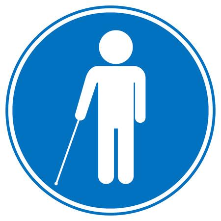 Blinden gehandicapt teken op een witte achtergrond. Vector illustratie.