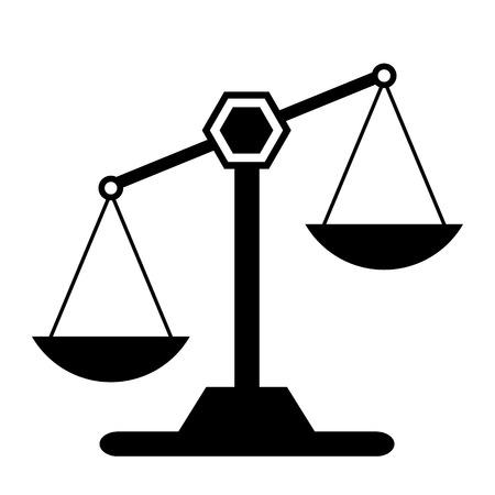Schaal-pictogram op een witte achtergrond. Vector illustratie. Stock Illustratie