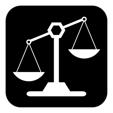 righteousness: Scale icon on white background. Vector illustration.
