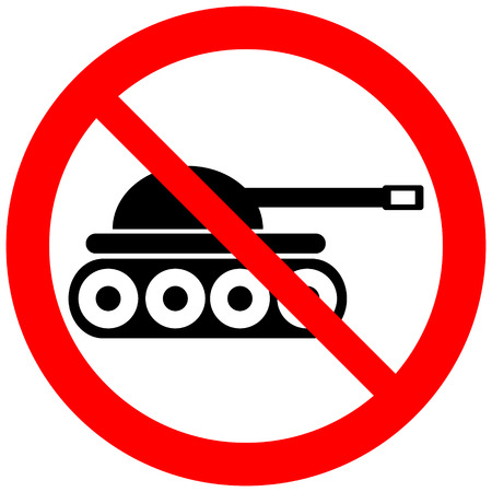 no war: No war sign on white. Illustration