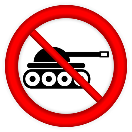 no war: No war sign on white. Illustration