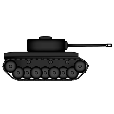 Panzer icon on white background. photo