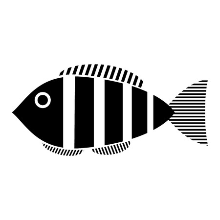 Fish icon on white background Vector