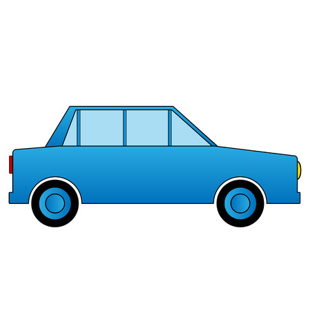 Car icon on white background. Vector illustration. Vector