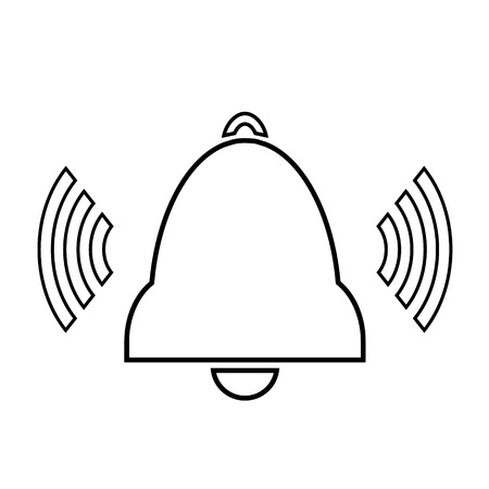 Bell icon on white background