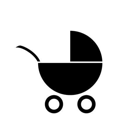 nursing mother: Pram icon on white background
