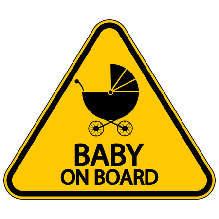 informative: Baby on board sign on white background. Vector illustration.