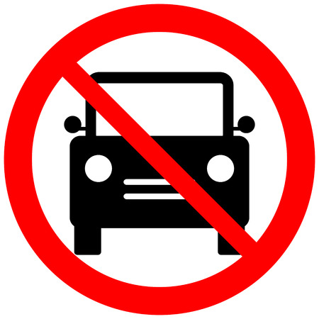 No parking sign icon on white background. Vector illustration. Vector
