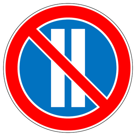 No parking on even days of the month on white background. Vector illustration. Vector