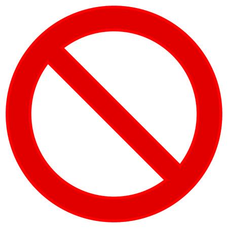 interdiction: Aucun signe sur fond blanc. Vector illustration. Illustration