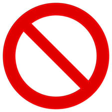 protest signs: No sign on white background. Vector illustration.