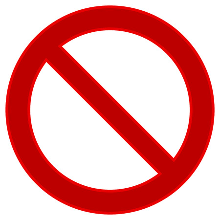 disallowed: No sign on white background. Vector illustration.