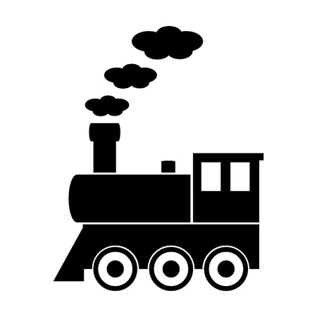 Locomotive sign on white background. Vector illustration.