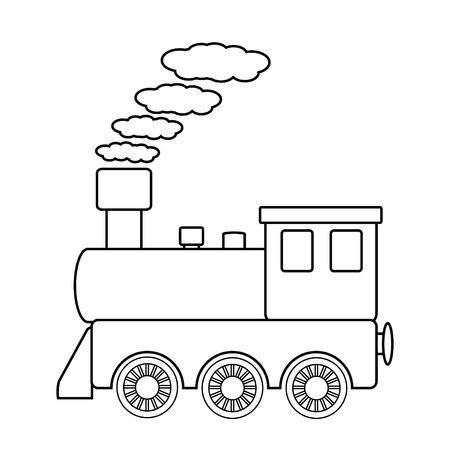 Locomotive sign on white background. Vector illustration. Vector