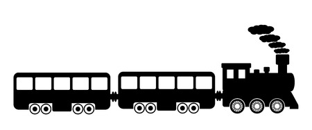 Toy train on white background. Vector illustration.