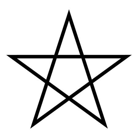 Pentagram pictogram op een witte achtergrond. Vector illustratie.