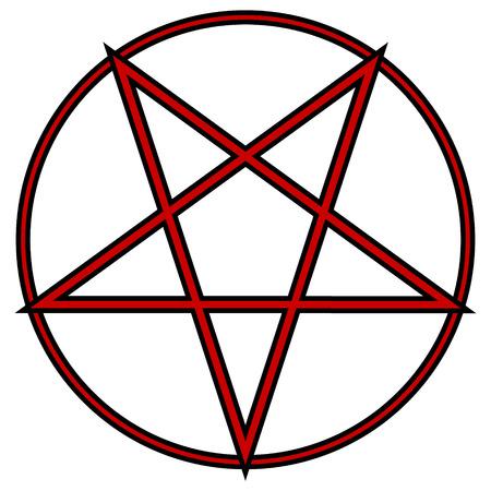 pentacle: Pentagram icon on white background. Vector illustration.