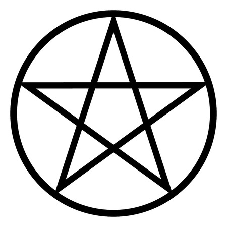 subculture: Pentagram icon on white background. Vector illustration.