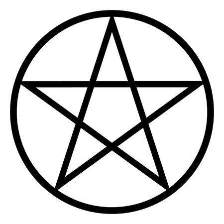 Pentagram pictogram op witte achtergrond. Vector illustratie. Stock Illustratie