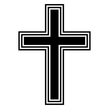 religious cross: Religious cross on white background. Vector illustration. Illustration