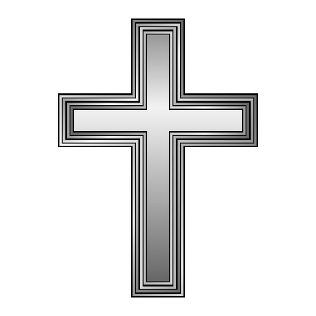 Religious cross on white background. Vector illustration. Vector