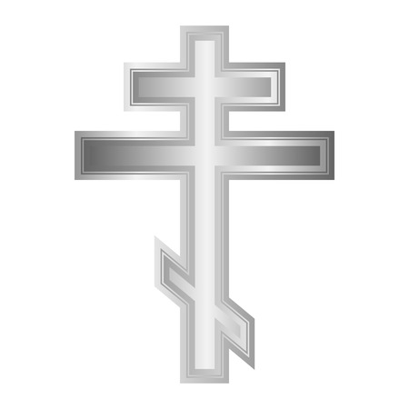 Religious orthodox cross icon on white background. Vector illustration. Vector