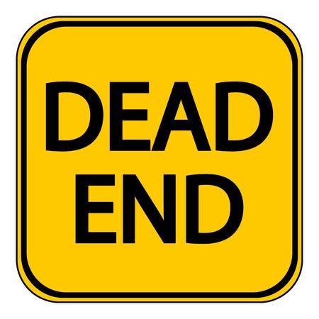 Dead End sign on white background. Vector illustration. Illustration