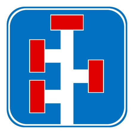 dead end: Dead End sign on white background. Vector illustration. Illustration