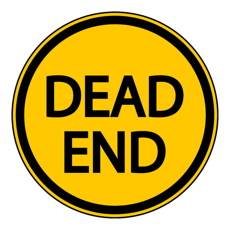 pointless: Dead End sign on white background. Vector illustration. Illustration