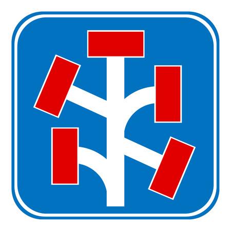 no way: Dead End sign on white background. Vector illustration. Illustration