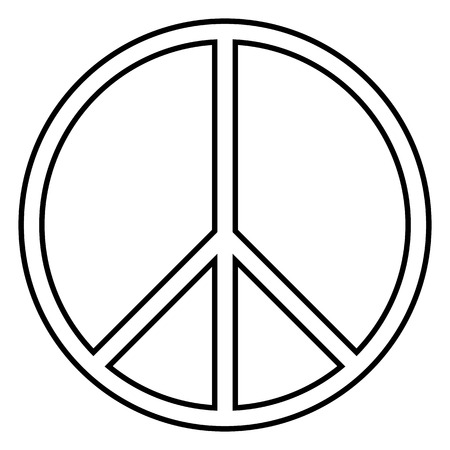 Peace symbol on white background. Vector illustration. Vector