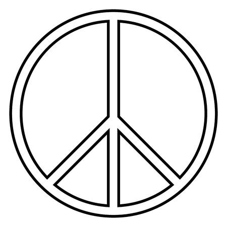 peace treaty: Peace symbol on white background. Vector illustration. Illustration
