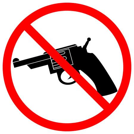 No revolver icon on white background. Vector illustration. Vector