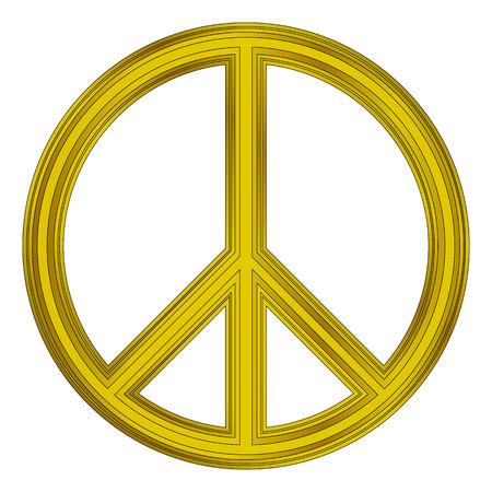 treaty: Peace symbol on white background. Vector illustration. Illustration