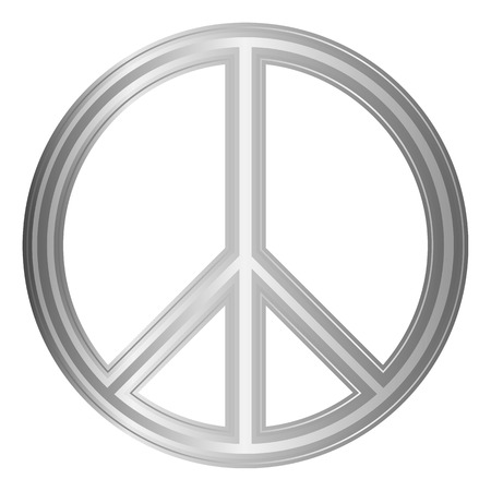 disarmament: Peace symbol on white background. Vector illustration. Illustration