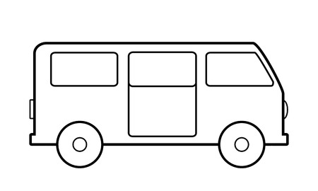 Minibus icon on white background. Vector illustration. Vector