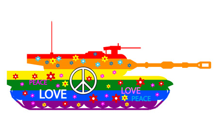 Painted tank icon on white background. Vector illustration.