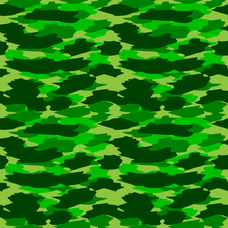 color conceal: Summer forest camouflage seamless pattern. Vector illustration.