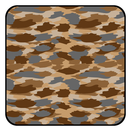 color conceal: Desert camouflage button. Vector illustration.