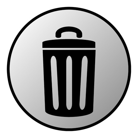 compost: Garbage button on white background  Vector illustration