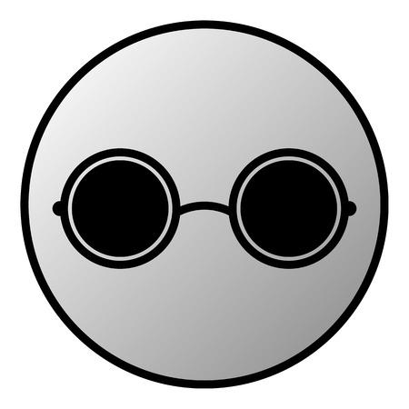 Glasses button on white background. Vector illustration. Vector