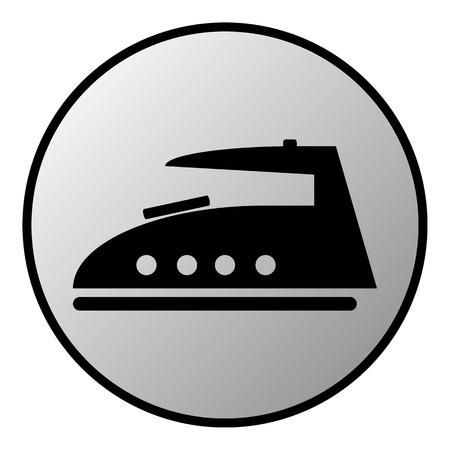 plancha de vapor: Bot�n de vapor de hierro en el fondo blanco