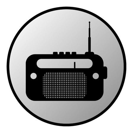 radio button: Pulsante di opzione su sfondo bianco