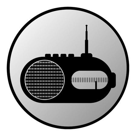 am radio: Radio button on white background. Vector illustration.