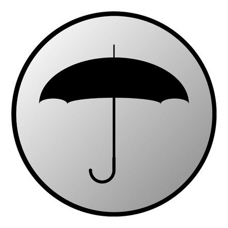 Umbrella button on white background. Vector illustration. Vector